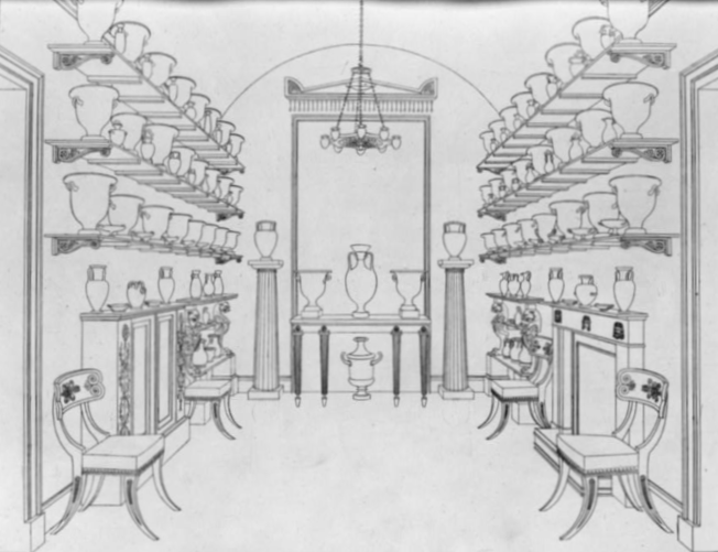 The Mind's Eye - A Balancing Act Hope, T. (1807) Second room containing Greek vases